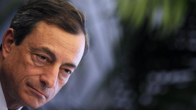 Mario Draghi auf einer Pressekonferenz im vergangenen Juni