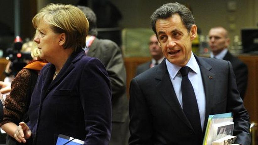 Wirtschaftspolitik: Kanzlerin Angela Merkel und Frankreichs Präsident Nicolas Sarkozy in Brüssel