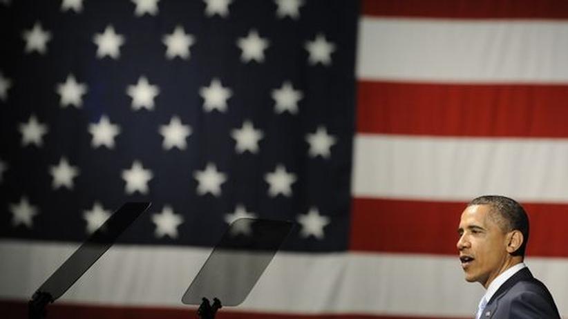 Staaten in der Schuldenkrise: US-Präsident Barack Obama auf einer Veranstaltung der Demokratischen Partei