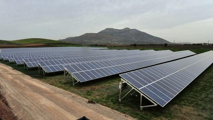 Eine Solarkraftanlage, gut 100 Kilometer nördlich von Athen