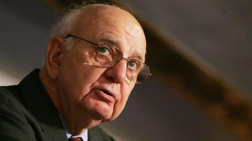 Finanzkrise: Paul Volcker auf einer UN-Konferenz (Archivbild)