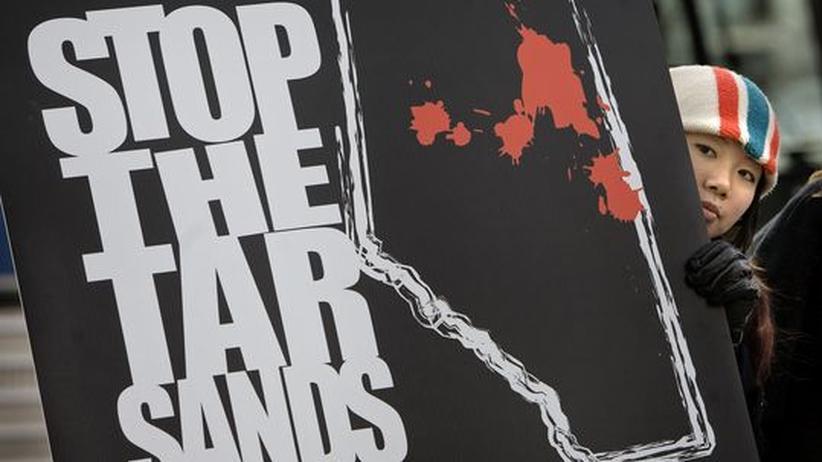 Proteste gegen die Ölgewinnung aus Teersand in Kanada (Archivbild)