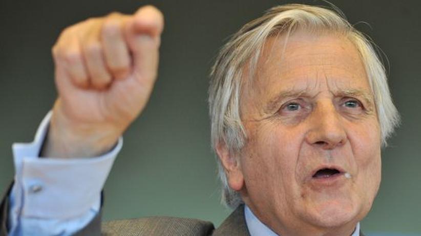 EZB-Präsident Jean-Claude Trichet bei einem Treffen mit Mitgliedern des Europäischen Parlaments