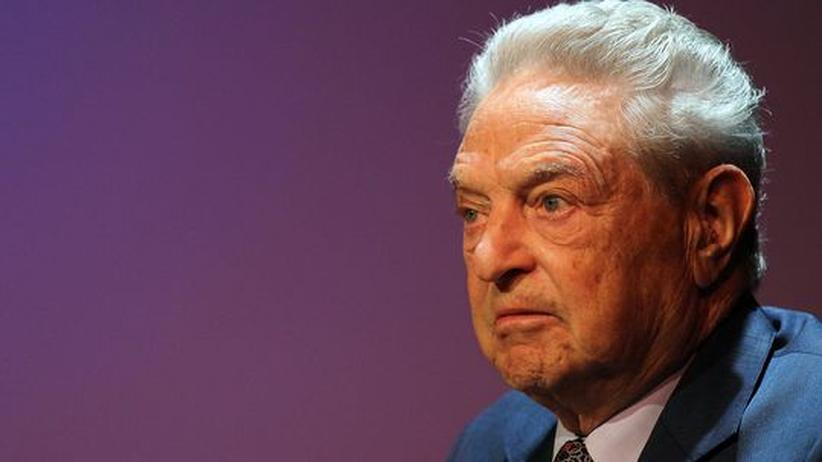 George Soros bei einem Spenden-Forum in New York