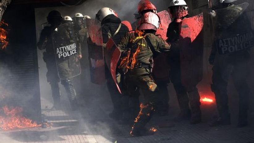 Griechenland-Streik: Randalierer übernehmen Athens Straßen
