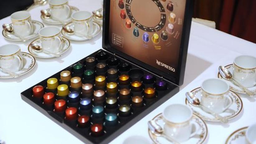 Kaffee: Eine Palette Nespresso-Kapseln