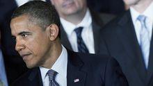 Barack Obama auf einem Treffen mit Wirtschaftsbossen im Weißen Haus. Auf der Konferenz ging es um Möglichkeiten, den Arbeitsmarkt zu beleben.