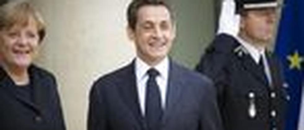Der französische Präsident Nicolas Sarkozy und Bundeskanzlerin Angela Merkel