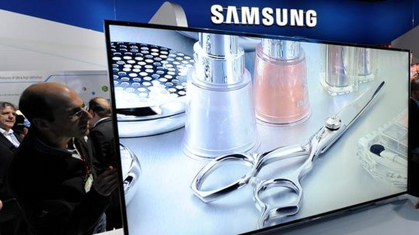Ein LED-Fernseher von Samsung auf der Consumer Electronics Show (CES) 2012 in Las Vegas