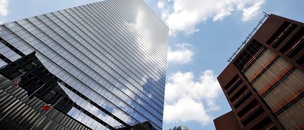 Das World Trade Center, Gebäude 7, in New York. Hier hat die Rating-Agentur Moody's ihren Sitz.