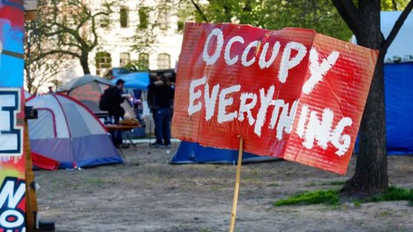 Krisenproteste: Occupy-Schild in Washington, D.C.