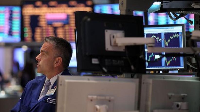 Finanzmarktkrise: In einem Handelsraum an der Börse New York