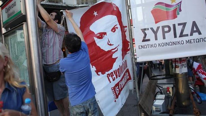 Vor der Wahl: Unterstützer der Syriza-Partei in Athen