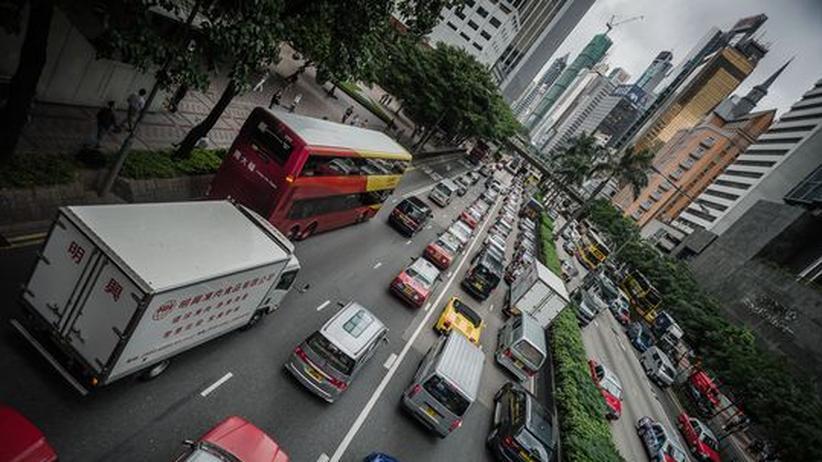 Nachhaltigkeit: Dichter Straßenverkehr in Hongkong