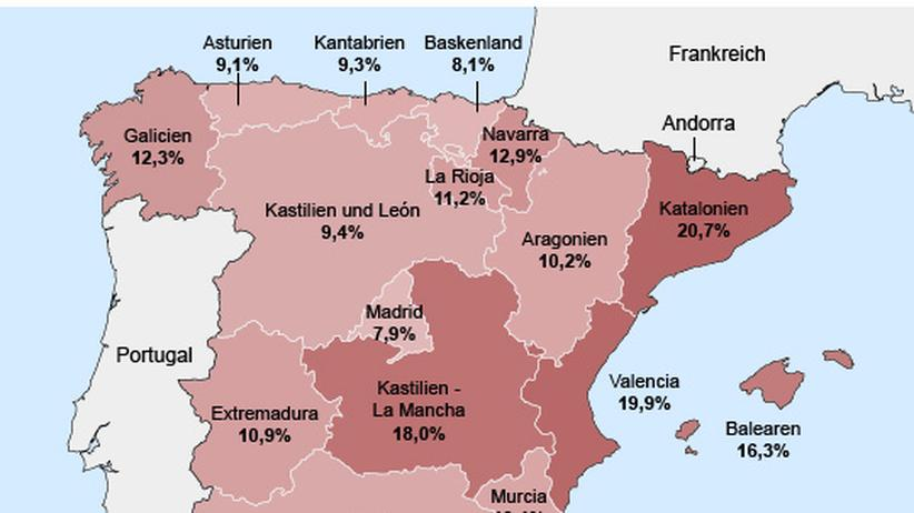 Frankreich Corona Regionen