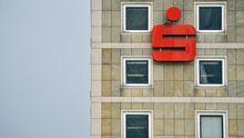 Sparkassen-Werbung in Frankfurt/Main