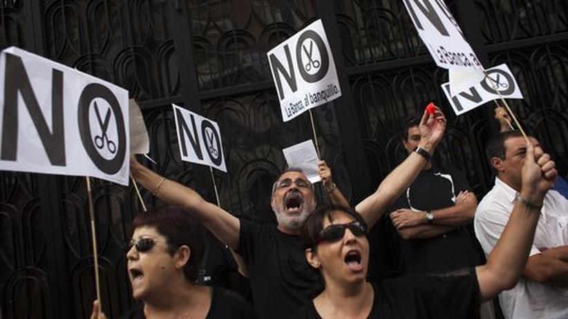 Euro-Krise: Spanier protestieren mit Nazi-Symbolen