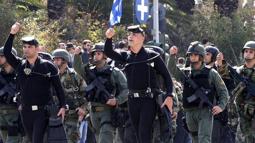 Militärparade in Athen