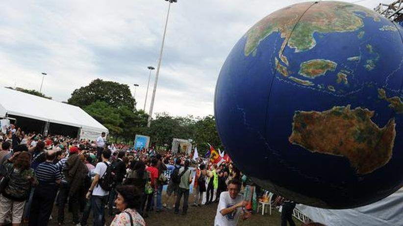 Nachhaltigkeit: Brasilianische Aktivisten demonstrieren während des Rio+20-Gipfels im vergangenen Juni.