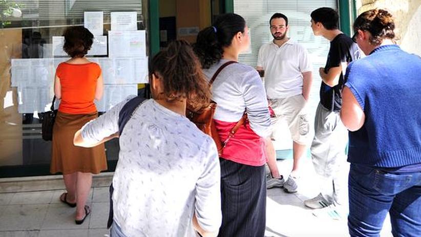 Euro-Raum: Arbeitssuchende auf dem Arbeitsamt in Athen
