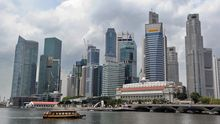Das Bankenviertel in Singapur