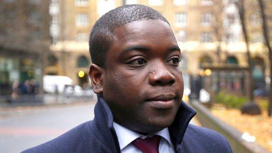 Der frühere UBS-Händler Kweko Adoboli vor Verkündung des Urteils am Dienstag in London