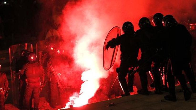 Protest gegen Sparkurs: Straßenschlachten in Rom, Lissabon, Madrid und Barcelona