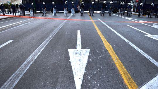 Polizisten im Athener Stadtzentrum