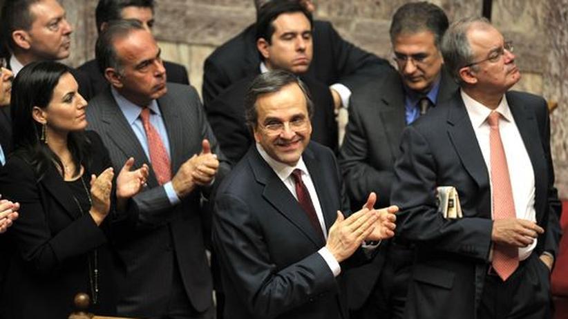 Schuldenkrise: Griechisches Parlament verabschiedet Spar-Haushalt