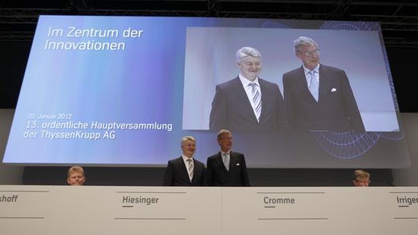 Krise beim Stahlkonzern: ThyssenKrupp-Chef Hiesinger duldet keine Kritik an Cromme