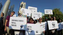 Klimaaktivisten in Doha