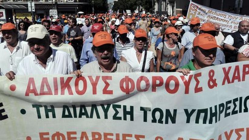 Euro-Krise: Griechisches Parlament genehmigt Steuererhöhungen