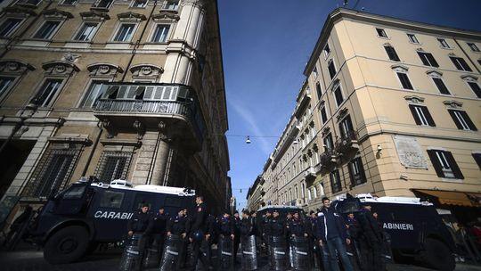 Studentenproteste in Rom (am 24. November 2012)