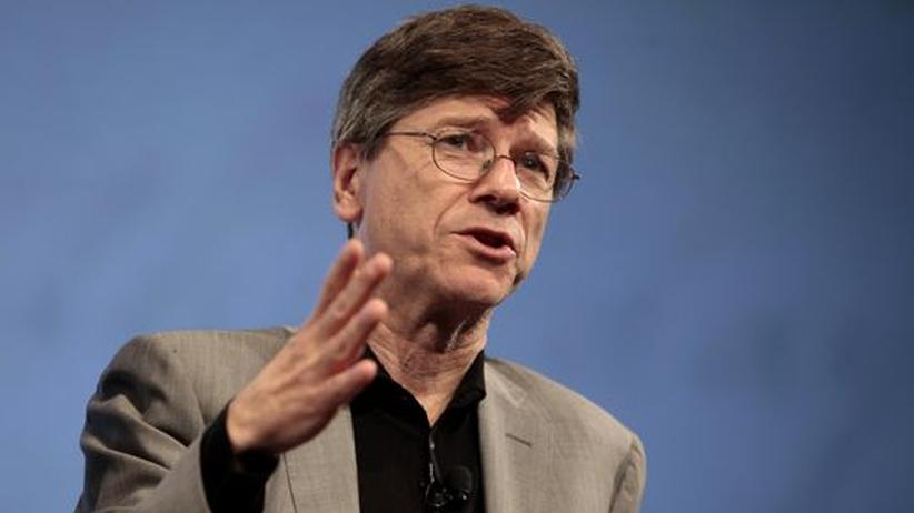 Jeffrey Sachs: Professor Jeffrey D. Sachs of Columbia University at a panel discussion in New York City