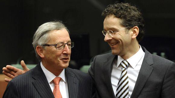 Der scheidende Euro-Gruppen-Chef Jean-Claude Juncker (l.) neben seinem designierten Nachfolger, Jeroen Dijsselbloem