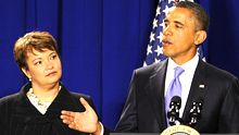Lisa Jackson, Chefin der US-Umweltbehörde EPA, und US-Präsident Barack Obama (Archiv)