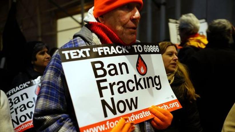 Fracking: Anti-Fracking-Protest in New York