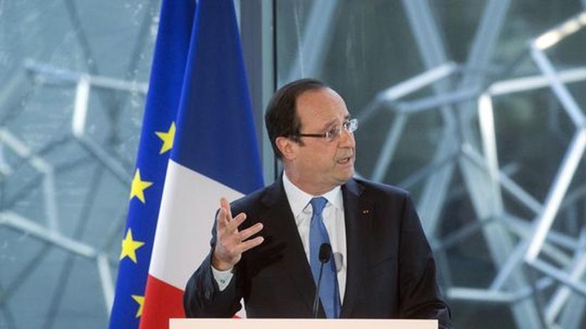 Währungsmanipulation: François Hollande vor wenigen Tagen bei der Einweihung eines neuen Gebäudes für das französische Nationalarchiv