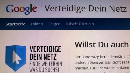 Kampagne von Google gegen das Leistungsschutzrecht