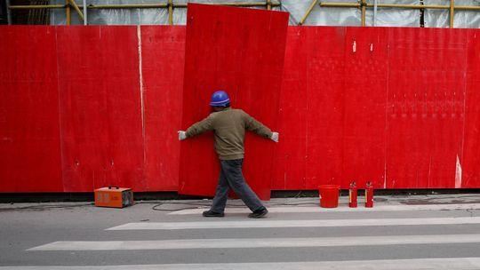 Bauarbeiten in der chinesischen Wirtschaftsmetropole Shanghai