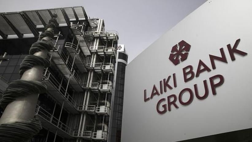 Die Zentrale der Laiki Bank in Nikosia