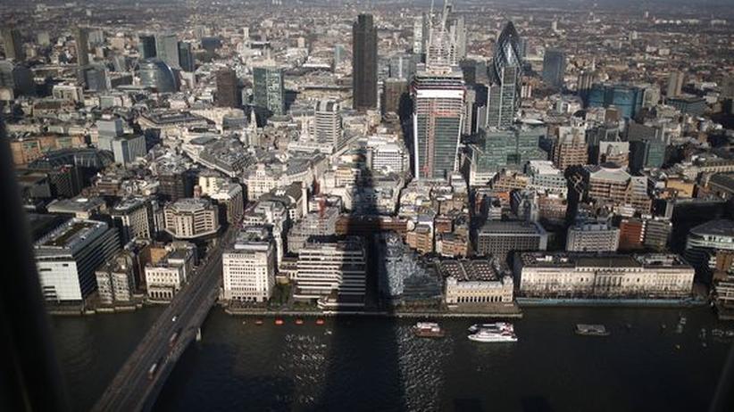 Steueroasen: Profitiert von britischen Offshore-Finanzzentren: die City of London.