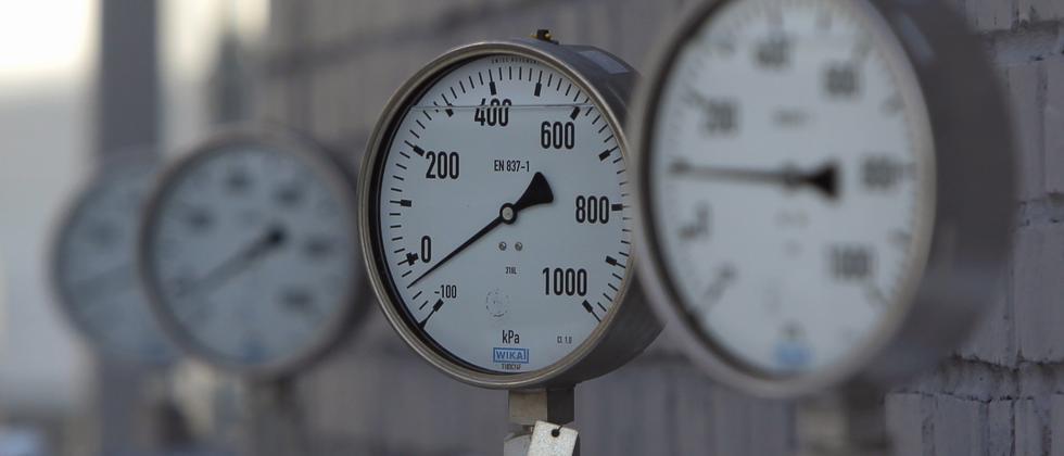 Eine Erdgas-Raffinerie von Gazprom in der Nähe von Moskau