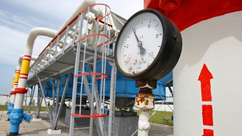 Krim-Krise: Eine Gaspipeline nördlich der ukrainischen Hauptstadt Kiew