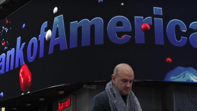 Faule Hypotheken: Eine Niederlassung der Bank of America in New York