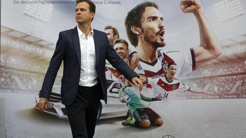 Nationalmannschaftsmanager Oliver Bierhoff ist das Bindeglied zwischen Sponsoren und Sportlern.