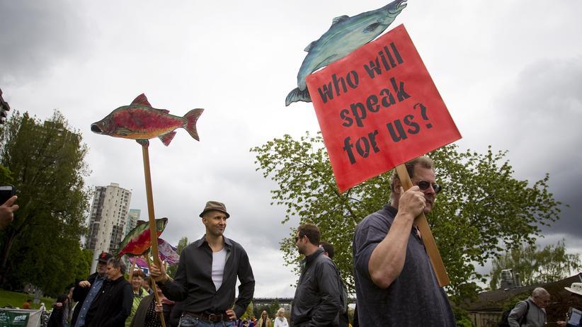 Umweltschützer protestieren gegen das Pipeline-Projekt