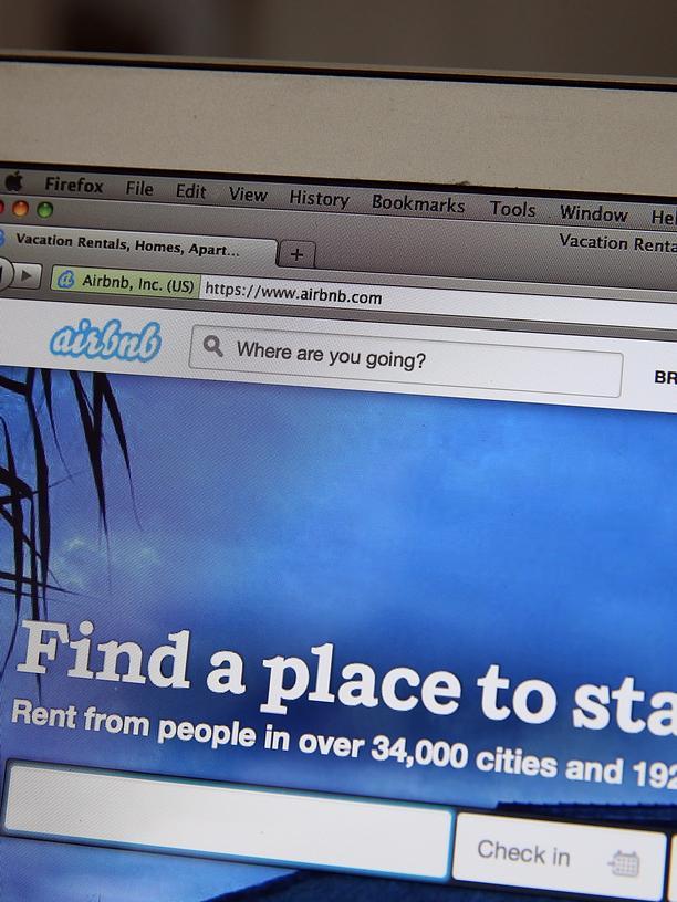 Website der Wohnungsbörse Airbnb