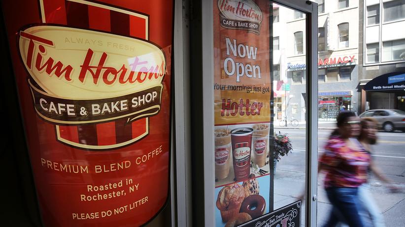 Tim Hortons: Tim Hortons ist eine kanadische Kaffee- und Donutkette