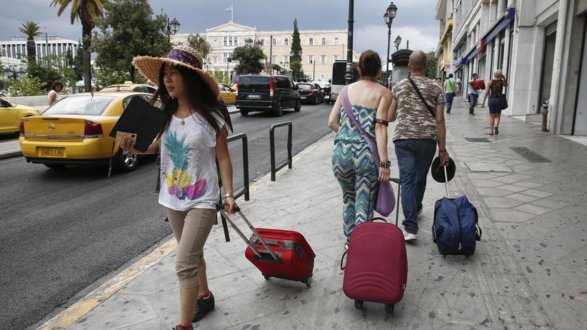 Wirtschaftskrise: Touristen in Athen